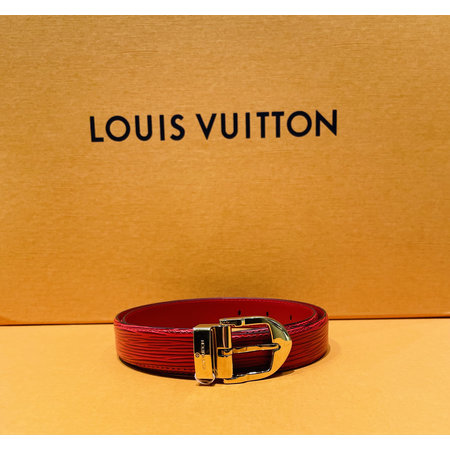 Louis Vuitton Ceinture Buckle Belt Red 120110052