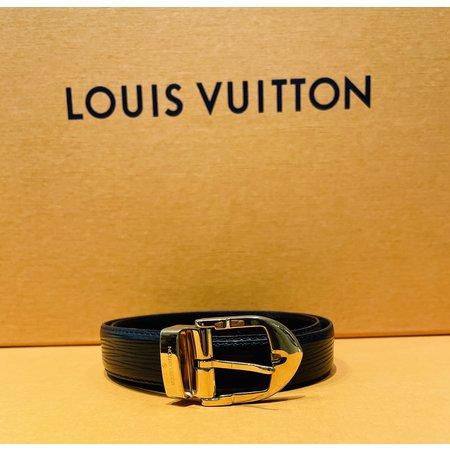 Handbags Louis Vuitton Ceinture Classic Black Goldtone Belt 120110057