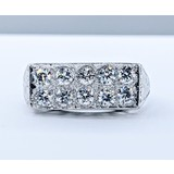 Ring .65ctw Diamonds Platinum Sz4.75 119120149