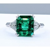 Ring 2.54ct Colombian Emerald .60ctw Diamonds Platinum Sz5.5 220110069