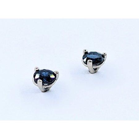 Earrings .20ctw Round Sapphires 14kw 120120031