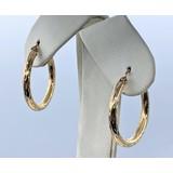 """Earrings 1"""" Hoop 14ky 121010043"""