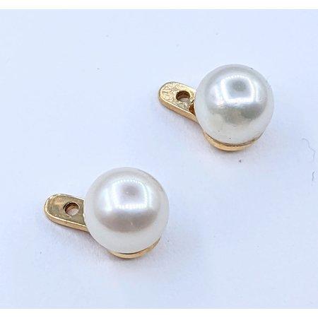 Earring Jackets 6.7mm Pearls 14ky 221010028