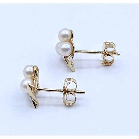 Earrings 3.25mm Pearl Cluster 14ky 221010037