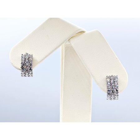 Earrings 12x5.75mm Cubic Zirconia 14kw 121010049