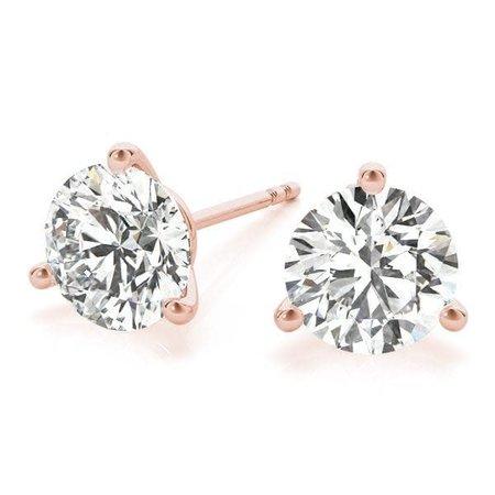 Earrings Studs .89ctw Round Diamonds 14kr 121010082