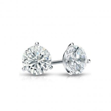 Earrings Studs .97ctw Round Diamonds 14kw 121010081