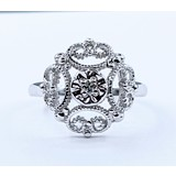 Ring .03ct Round Diamond 14kw Sz6 221010097