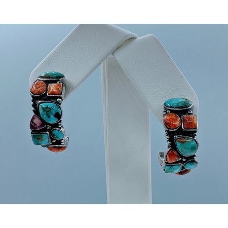 Earrings Turquoise & Coral 121010142