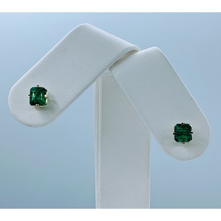 Earrings Studs 1.17ctw Radiant Emeralds 18ky 121010123