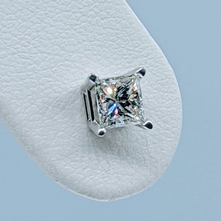 Earring .50ctw Princess Diamond 14kw 121010110
