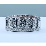 Ring 1.00ctw Round Diamonds 14kw Sz8 221020009