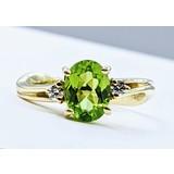 Ring .06ctw Diamonds 1.35ct Peridot 14ky Sz6 121010103