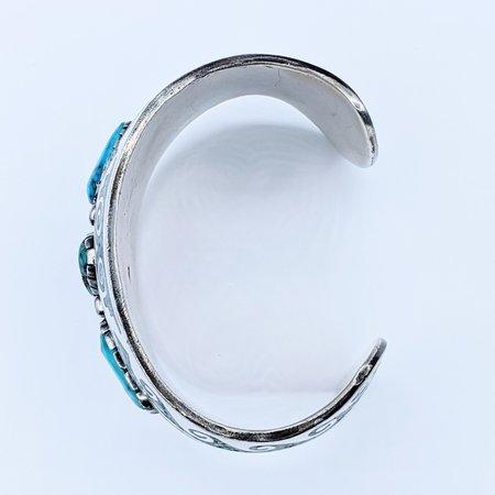 Bracelet Cuff Native American Turquoise & Malachite Silver 221020015