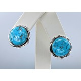 Earrings Native American Turquoise Silver 221020018