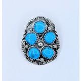 Pendant Native America Turquoise Silver 121020019