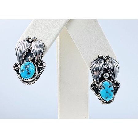 Earrings Native American Turquoise Silver 221020019