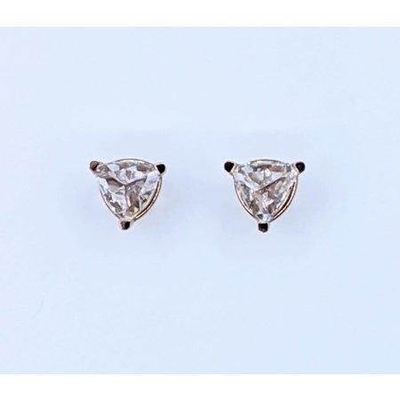 Earrings Rose Cut Diamond Studs .56ctw Triangle 14kr 121020035