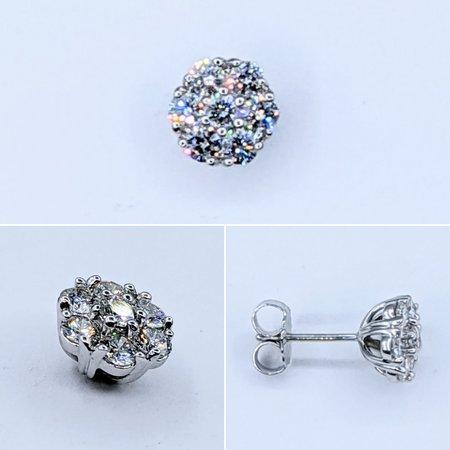 Earring .50ctw Diamond 14kw 8mm 121020052
