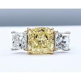 Ring 3.30ct Cushion Diamond 1.81ctw Diamonds 18kw Sz7 221020035