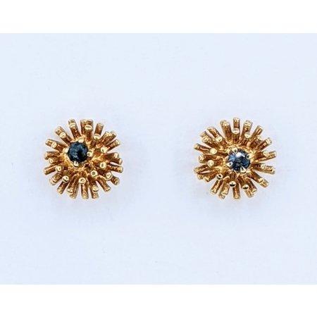 Earrings Sapphire Dandelion 14ky 219080082