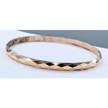 Bracelet Bangle Diamond Cut 5mm 14ky 20cm 121030012
