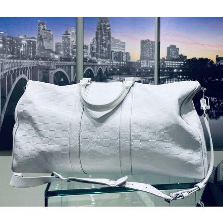 Handbag Louis Vuitton Keepall Grey 121010063