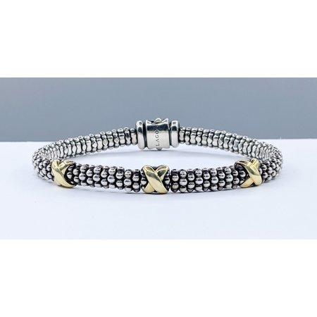 "Bracelet Lagos Caviar X Station 925 & 18ky 7"" 121030054"