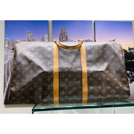Handbag Louis Vuitton Monogram Keepall 55 Boston Bag M41424 121030099