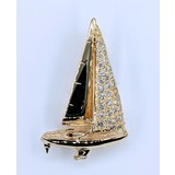 Pendant Sailboat .65ctw Round Diamonds 14ky 221040006