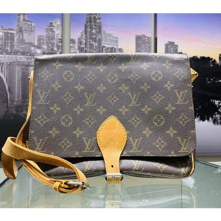 Handbag Louis Vuitton Monogram Cartouchiere GM Shoulder Bag Old Model 121030084