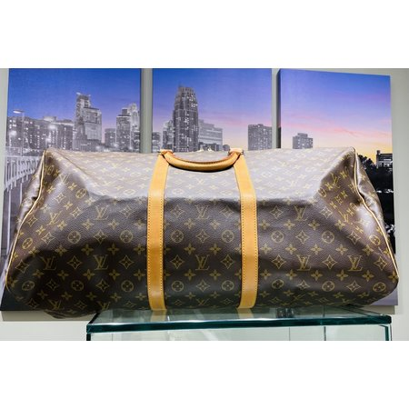 Handbag Louis Vuitton Monogram Keepall 60 Boston Bag M41422121040029