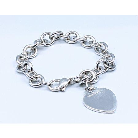 Bracelet Tiffany & Co Sterling Silver Heart Tag Charm Bracelet 121040012