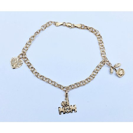 """Bracelet """"MOM"""" Charm 10ky 7"""" 221040034"""