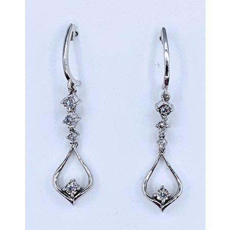 Earrings Dangle .08ctw Round Diamonds 10kw 37mm 221040030