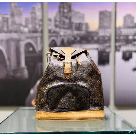 Handbag Louis Vuitton Montsouris MM M51136 Monogram Backpack 121040036