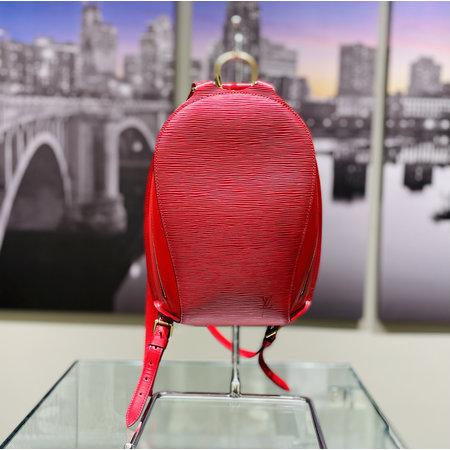 Handbag Louis Vuitton Mabillon Backpack Bag Epi Leather Red M52237 121040040