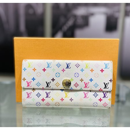 HandbagLouis Vuitton Long Wallet Portefeuille Sarah6Bron M93532 121040049