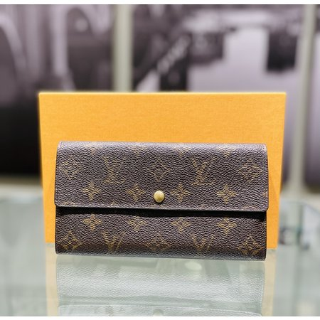 HandbagLouis Vuitton Long Wallet M61725 Pochette Monnaie Credit Monogram 121040052