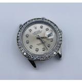 Watch Rolex 16000 Datejust Yr. 1987 A.M Dial & 2ctw Diamond Bezel