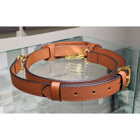 Handbag Strap Heritage Collection 2.5cm Light Brown 120cm121040061