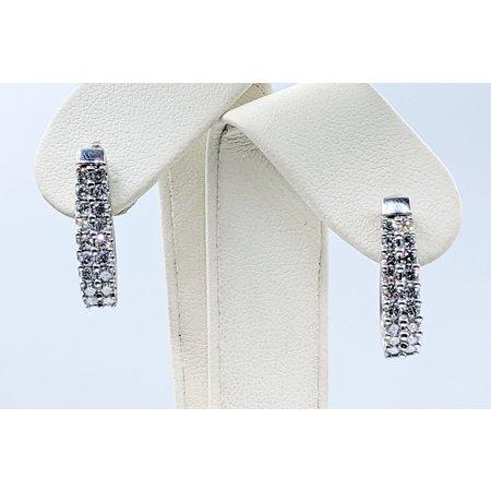 Earrings 1.00ctw Diamond 14kw 22x5mm 121040127