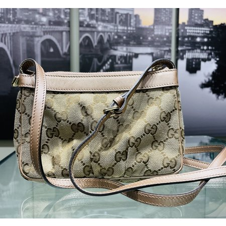 Handbags Gucci Shoulder Cross Body GG Canvas Leather A8625 121040225