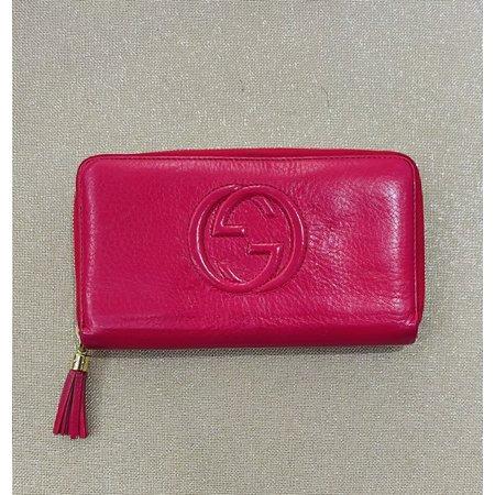 Handbags Gucci Zippy Wallet Hot Pink Leather 121040233