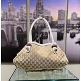 Handbags Gucci Tote Bag Beiges Canvas 121040236
