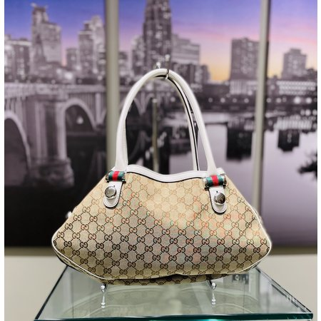 Handbags Gucci Tote Bag Beiges Canvas 121040236