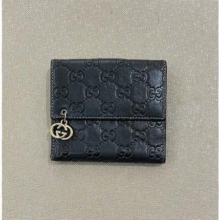Handbags Gucci Wallet Dark Brown Leather 121040237