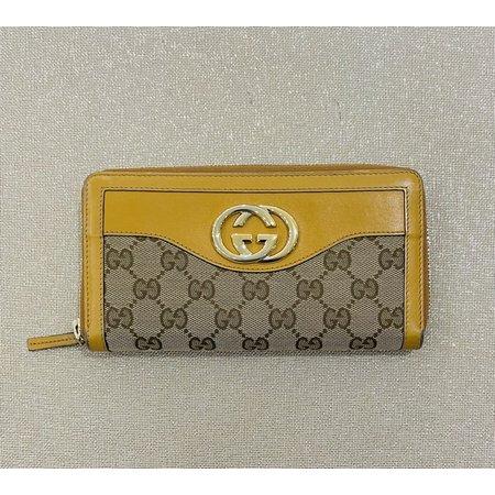 Handbags Gucci Zippy Wallet Swanky Browns Canvas 121040234