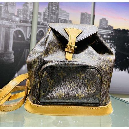 Handbag Louis Vuitton Mini Montsouris Backpack Bag Monogram Leather M51137 121040035