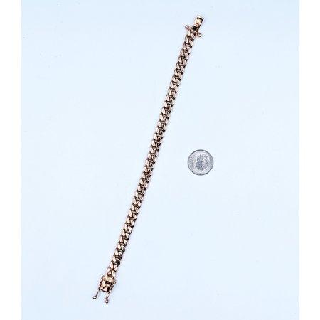"""Bracelet 7mm Cuban Bracelet     14kr 7.5"""" 121040308"""